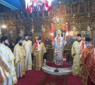 Θεία Λειτουργία στον πανηγυρίζοντα Ιερό Ναό Παναγίας Δεσποίνης Λαμίας